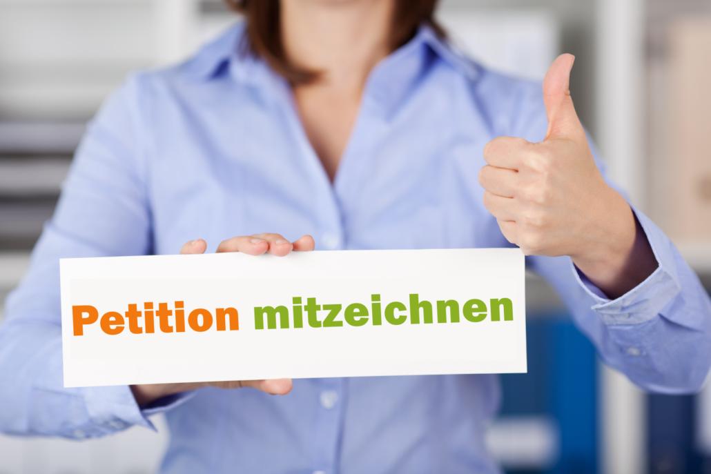 Petitionen Demonstrationen Unterschriftensammlungen
